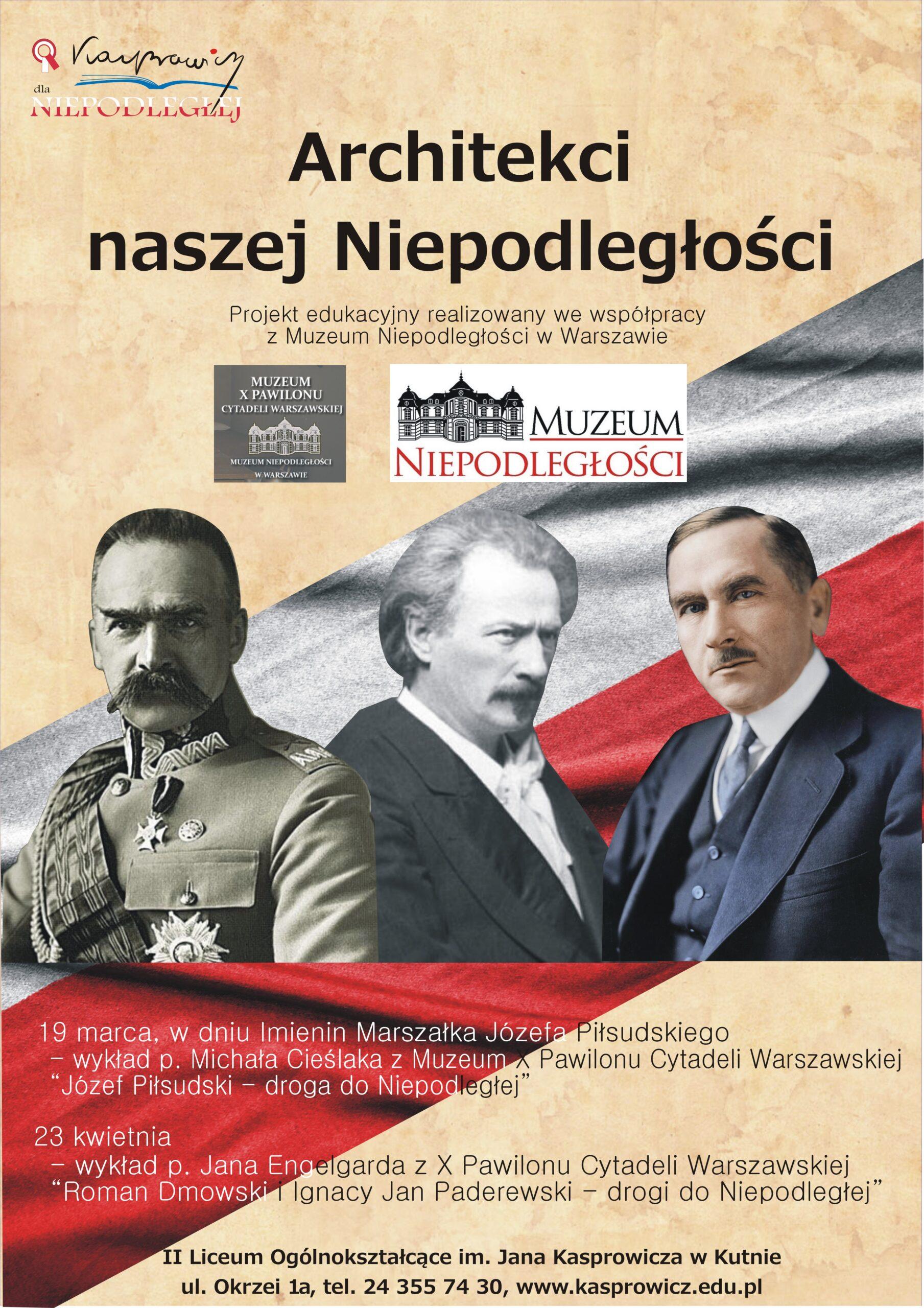 plakat Architekci Niepodległości